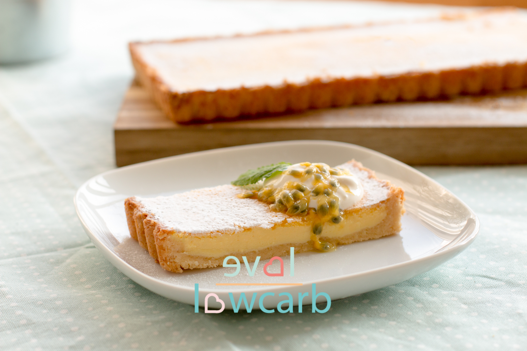 Low Carb Passionsfrucht Lemon Tarte